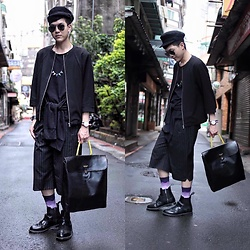 Linus Hung - Tran Jacket, Daniel Wellington Watch, Vanger Bag, Dr. Martens Boot, Happy Socks - Made In Taiwan II