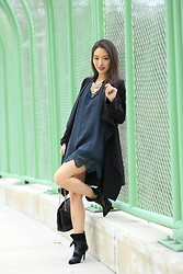 Kimberly Kong - Gentle Fawn Mini Dress, Two Perfect Souls Suede Boots - Lost in a Sea of Green