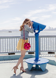 Alyssa Casares - Alyssa Nicole The Jane Dress, Kate Spade Bag, Banana Republic Heels - View of San Francisco