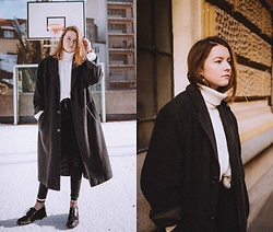 Astrid H - H&M Pants, Zara Shoes, Thrift Store Coat - CASUALLY FREEZING