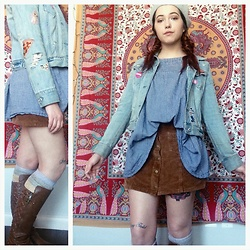 Abby - Free People Socks, Luxe Apothetique Skirt, Gap Jacket, Target Beret - Just a regular saturday
