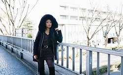 Josephine Ellen - Zara Coat, Express Romper, Asos Belt, Asos Boots - Tokyo Winter Fashion Day 1