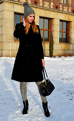 Ania Zarzycka - Dressystar Coat, Victioria's Secret Bag, Deezee Boots, Tally Weijl Pants - Take me higher