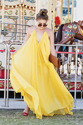 Monique Ceccato - The Juice Market Yellow Maxi Dress - Billowing Yellow