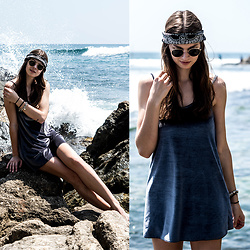 Jacky - Asos Bandana - Blue Velvet Dress