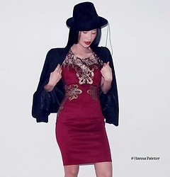 Hanna From HOLLAND - Chicme Dress - Chic in red and black