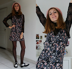 Laurielle Haze - Pull & Bear Floral Dress - Shattered Like A Pale Moon ♫
