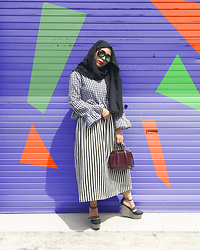 Rizuna Swon - Zara Maroon Bag - Colorful Mono