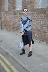 Hollie .S. - Topshop Slip Dress, Kurt Geiger Ankle Boots, Boohoo Bag - Outerwear