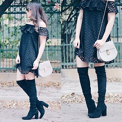 Laura Reynoso - Zara Boots, Shopspanglishfashion Dress - The Agua Lluvia dress