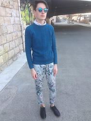 Julien GIRARD - Primark Jumper, H&M Shirt, Zara Pants, New Look Shoes, Lukkas Sunglasses - If you're going to San Francisco be sure to wear some flower