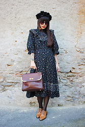 Ping Chiu Armando - Vintage Black Dress, Vintage Handbag - Vintage Black Dress