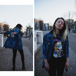 Annette Zer - Pull & Bear Metallica Band Shirt, Chic Me Denim Jeans Shirt - You stay, you go, you change