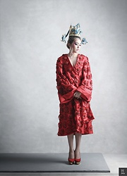 Cindy Karmoko - Hian Tjen Couture Coat, Charlotte Olympia Shoes - Dragon lady