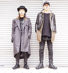 @KiD - Newyork Hat Coachman, Television, Monochrome Only One Trench, Ch. Gray Pants, George Cox X Fragile Osaka, Masaki Best Friend - Japanese Trash 97