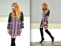 Martina Manolcheva - Dezzal Coat, Sunglasses, Boots - The Embroidered Coat