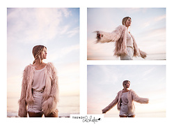 "Molly Hogan - Raga The Minx Faux Fur Coat By, Levi's® High Rise ""Wedgie"" Short By Levi's, Treasure And Bond + Slouchy Termal Tee - Shaggy Coat in Baby Pink"