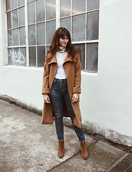 Tonya S. - Vintage Christian Dior Coat, Redones, Free People Cecilia Ankle Boot - Sunday Style
