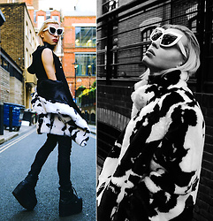 Milex X - Fak By Sunglasses, The Black Market Top, Vintage Jacket, Topshop Pants, Buffalo Platforms - YOU'RE NOT READY FOR
