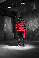 INWON LEE - Byther Extra Long Strap Cap, Byther Plaid Check Jacket, Byther Camouflage Banding Pants - Trendy Patterns Colaboration