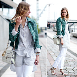 Ruth Pie - See By Chloé Jacket, H&M Blouse, Jessica Buurman Bag, Ebay Heels - Green Jacket