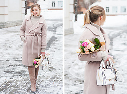 Natalie Savchenko - Zaful Coat, Zaful Sweater, Gamiss Bag, Zaful Sunglasses, Dresslily Boots - Monochrome