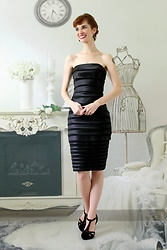 Bleu Avenue - White House Black Market Pencil Dress, Qupid Black Heels - What Would Audrey Wear?
