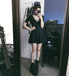 Mickylene Delgado - Current Mood Uprising Lace Up Dress, Current Mood Dakota Boot - LACED UP DOLL