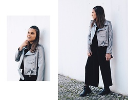 Mariana Galhardas - Zaful Jacket, Stradivarius Pants - Metallic Leather!