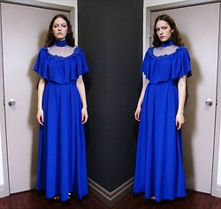 Raquel Teichroeb - Vintage 70s Chiffon Dress - Sweetest Devotion
