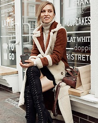 Valeriya Sytnik - Asos Coat, Asos Boots - High knee boots & fur coat
