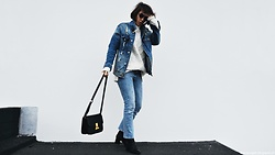 Maria Marques -  - Denim + Black boots