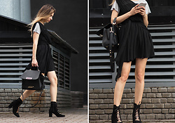 Lena Juice - H&M Lace Up Boots, Zac Posen Bag, Richmond&Finch Iphone Case - LBD