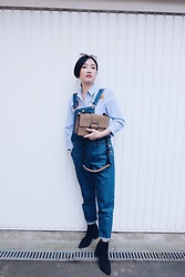 Yueming - Zara Shirt, Monki Suspender, Mango Bag - Blue