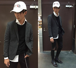 Eragon 莊 - Lame Chic Gray Suit, Zara Belt - Today style 17/ 0119