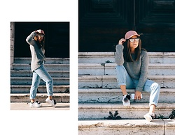 Mariana Galhardas - Zara Sweater, Pull & Bear Jeans, Bershka Sneaker, H&M Hat, Illesteva Sunnies - Simple, but Cool