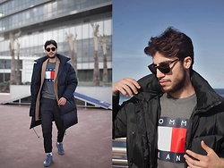 Ayoub Mani - Persol Sunglasses - The puffer jacket trend