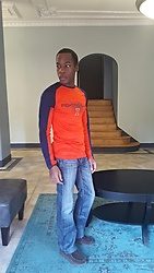 Thomas G - Knights Apparel Pro Edge Fighting Illini Shirt, Monarchy Atalier Jeans, Skechers On The Go - Fighting Illini Fan Apparel