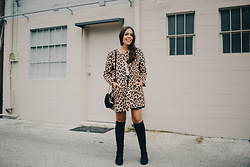 Nydia Enid - Zara Animal Print Coat, Zara Knee High Boots - Wild Side // ootd