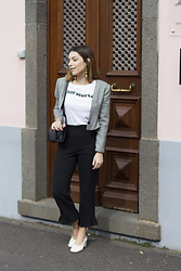 Frederica Ferreira - Zara Pants, Zara Granny Shoes, Zara T Shirt, Vintage, H&M - Good News Baby