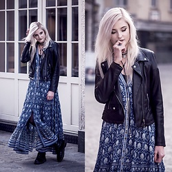 Faye S. - Spell Designs Dress, Zara Jacket, Dr. Martens Shoes - You can close your eyes and fight with art