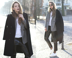 Dominique B. - Zara Pants, H&M Blazer, Superga Sneakers - Use your imagination
