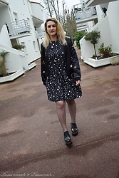 P&P Nororre - Pimkie Dress, Stradivarius Bomber, Sacha Shoes Compenses - Stars
