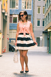 Lindsey Puls - Modcloth Skirt, Modcloth Top, Happiness Boutique Necklace, Kate Spade Bag - Repeat Offender
