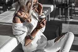 Krist Elle -  - All white outfit