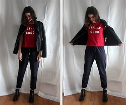 Kasia M - Forever 21 T Shirt, Reserved Jacket, H&M Pants, Lasocki Boots - Put on your... T-SHIRT!