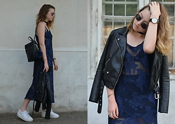 Astrid H - H&M Leather Jacket, Forever 21 Backpack, Pull&Bear Sneakers - BACK TO SUMMER