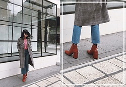 ERIKA N - Zara Red Boots, H&M Bubblegum Pink Sweater, Stylenanda Coat, Asos Pearl Earrings - In the mood for love