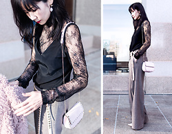 Helen @ mountainandcloud.com - Stylestalker Bodysuit, J Brand Cami, Valentino Cross Body Bag - Romantic Tops