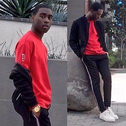 Willie Sparks - H&M Sweater, Zara Track Jacket - Valentine